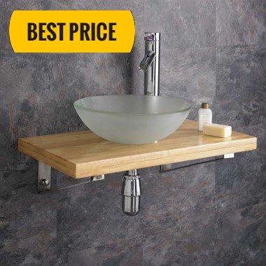 wooden bathroom shelves